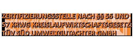 Text TÜV Zertifizierung Schuhbauer Conatinerdienst