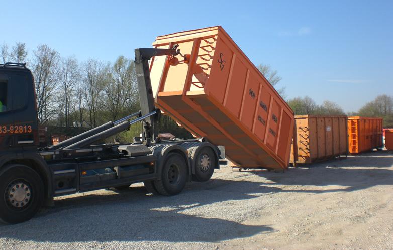 Abladen Container